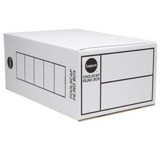 Impact Storage Box Foolscap Double Depth White