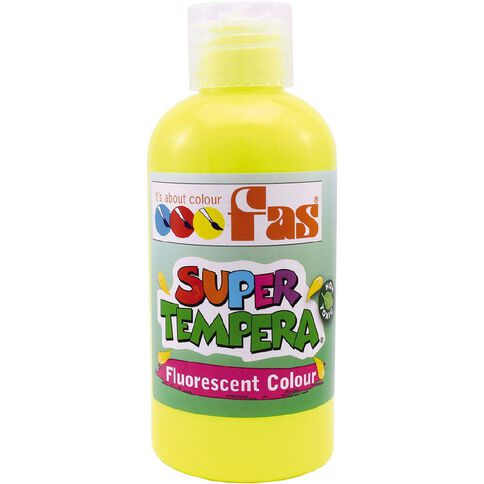 FAS Paint Super Tempera 250ml Fluoro Yellow