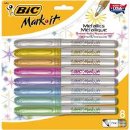 Bic Mark It Permanent Marker Metallic Colours Limited Edition 8 Pack