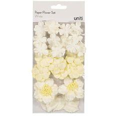 Uniti Paper Flower Set White