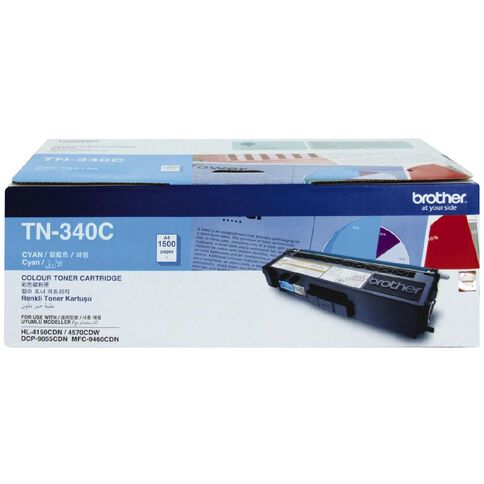 Brother Toner TN340 Cyan (1500 Pages)