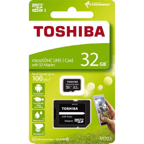 Toshiba 32GB Micro SD Card With Adapter