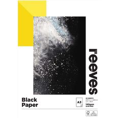 Reeves Sketch Pad Black 140 GSM Black A3