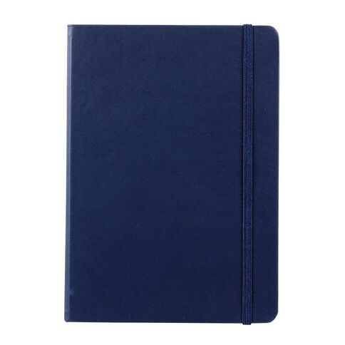 Impact Hardcover PU Notebook with Elastic Navy A5