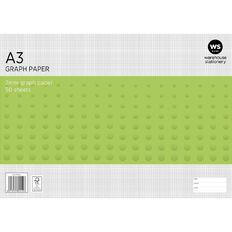 WS Graph Pad 2mm 50L White A3
