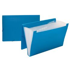 WS Foolscap Expanding File PP 12 Pocket Blue