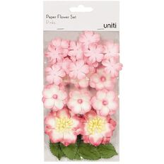 Uniti Paper Flower Set Pinks