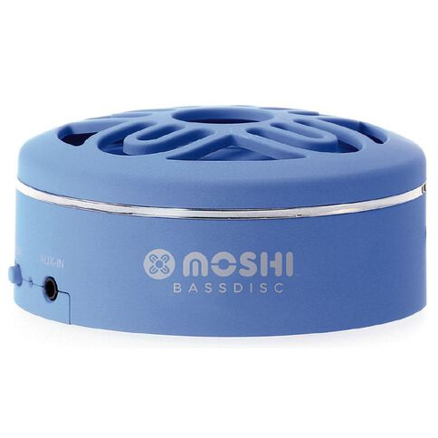 Moki BassDisc Bluetooth Speaker Blue