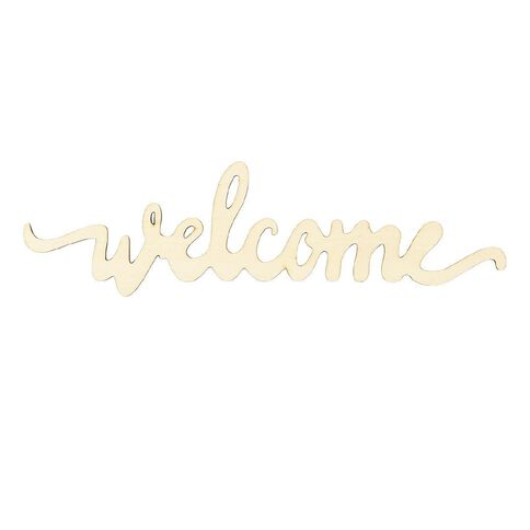 Craftwise Chipboard Welcome