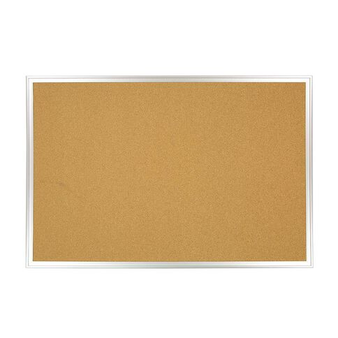 WS Aluminium Cork Board 600mm x 900mm