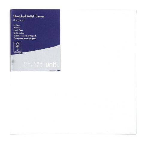 Uniti Platinum Canvas 8x8 Inches 380Gsm