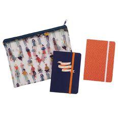 Uniti Empowerment Notebooks Set 2 Pack A6 In Pencil Case Clear