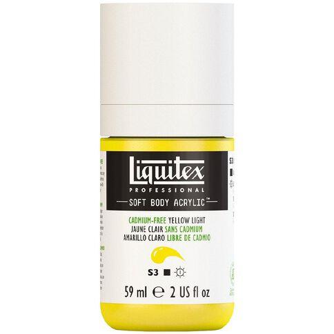 Liquitex Soft Body Acrylic 59ml Cadmium Free Light Yellow S3
