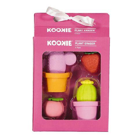 Kookie Novelty19 Plant Eraser 4 Pack