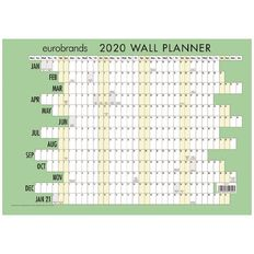 Eurobrands 2020 Wall Planner Non laminated 297mm x 420mm A3