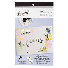 Rosie's Studio Tech Embellishment Pad Violet Yellow Floral