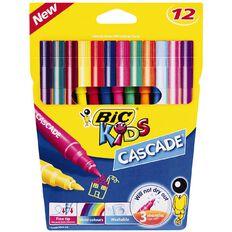 Bic Kids Cascade Colouring Felt Pens Multi-Coloured 12 Pack