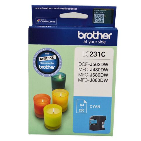 Brother Ink LC231 Cyan (260 Pages)