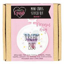 Craft Crush Mini Cross Stitch Kit Dream Big