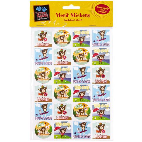 Little Hands Learning Merit Stickers Bears