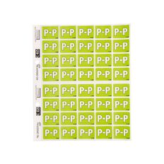 Filecorp Coloured Labels P Green