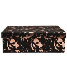 Uniti Rose Gold Storage Box Black A4
