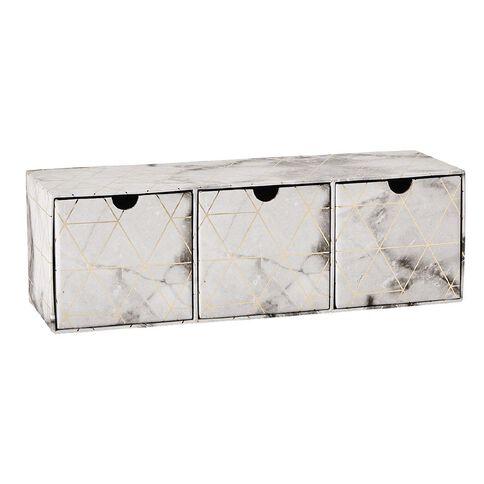 Uniti Fun & Funky Q3 Three Compartment Drawers Marble