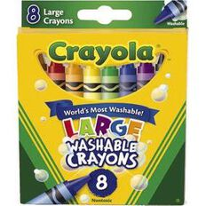 Crayola Washable Crayons Large 8 Pack 8 Pack