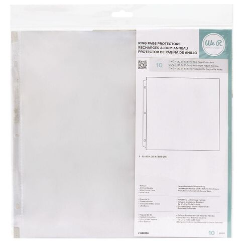 We R Memory Keepers Ame Photosleeve 12 x 12 Ring 10 Pack 12 x 13 Clear
