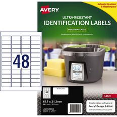 Avery Ultra-Resistant Outdoor Labels White 480 Labels