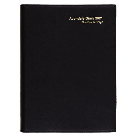Dats Diary 2021 Day To Page Avondale World Maps Black A5