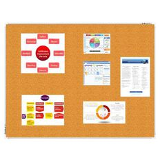 Boyd Visuals Corkboard 900 x 600mm Brown