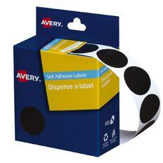 Avery Black Dispenser Dot Stickers 24mm diameter 500 Labels