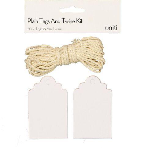 Uniti Tags And Twine Kit White