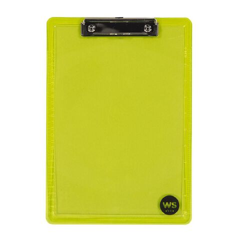 WS Clipboard Yellow A4