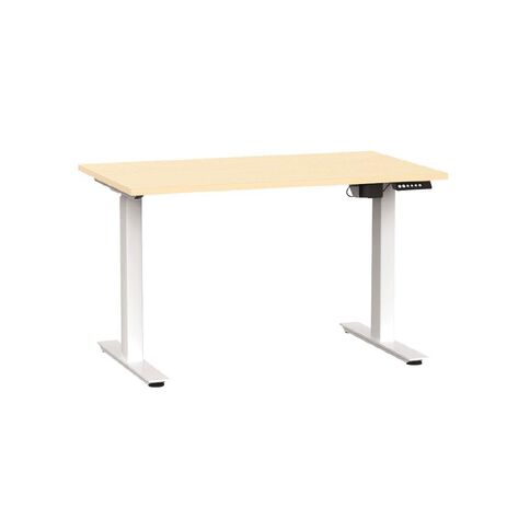 Agile Electric Height Adjustable Desk 1200 Nordic Maple/Silver