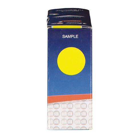 Quik Stik Labels Dots Mc24 500 Pack Yellow