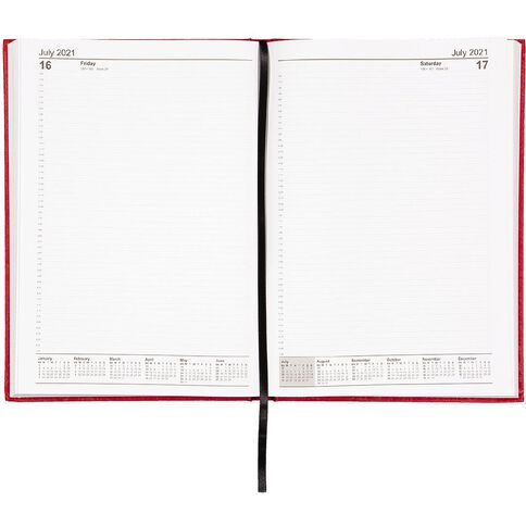 WS Diary 2021 Day To Page Red A4 Red A4