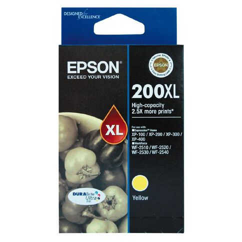 Epson Ink 200XL Yellow (450 Pages)
