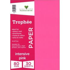 Trophee Paper 80gsm 30 Pack Intensive Pink A4