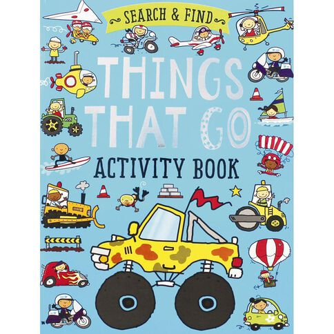 Search and Find Things That Go Activity Book