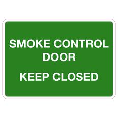 Impact Smoke Control Door Keep Closed Small 240mm x 340mm