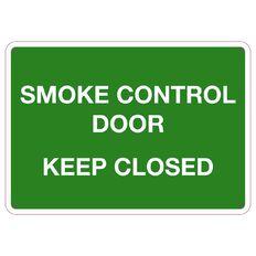 WS Smoke Control Door Keep Closed Small 240mm x 340mm