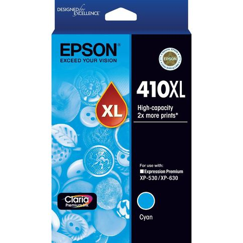 Epson Ink 410XL Cyan (650 Pages)