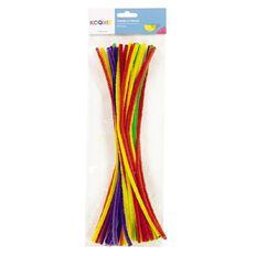 U-Do Chenille Sticks Plain 50 Pack