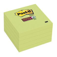 Post-It Super Sticky Limeade Notes 76mm x 76mm 5 Pack