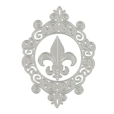 Couture Creations Framed Fleur De Lis Cutting Die Set 2 Piece