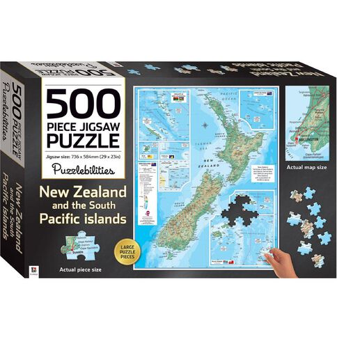 Hinkler Jigsaw Puzzle 500 Piece New Zealand Multi-Coloured