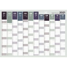 Wall Planner 2021 Unlaminated Printed Two Sides