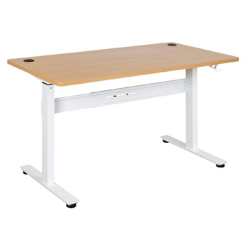 Jasper J Emerge 1500 Straight Pneumatic Height Adjust Desk Bch/Wht